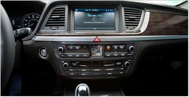 2015 Hyundai Genesis- htrac Sedan interior