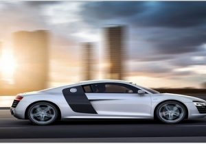 2014 Audi r8 v10 right side view