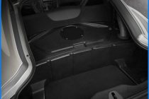 2016 Dodge Viper ACR interior has no carpet in the rear storage