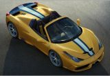 Ferrari 458 Spider  Above View